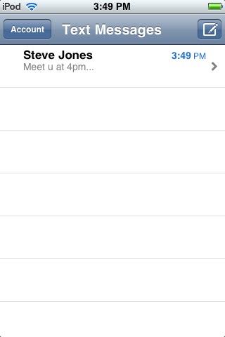 Screen Sample - Conversation List